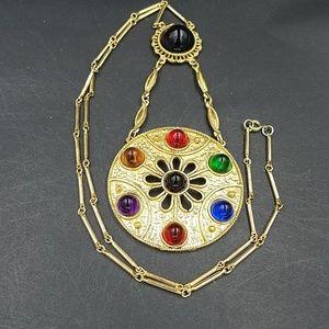 Vintage 1970s Jewelwd Lucite Gumdrop Necklacef